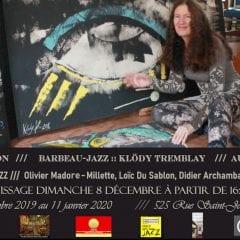 Exposition   Barbeau-Jazz :: Klödy T.   Fou-Bar   jusqu'au 11 Janvier 2020 !