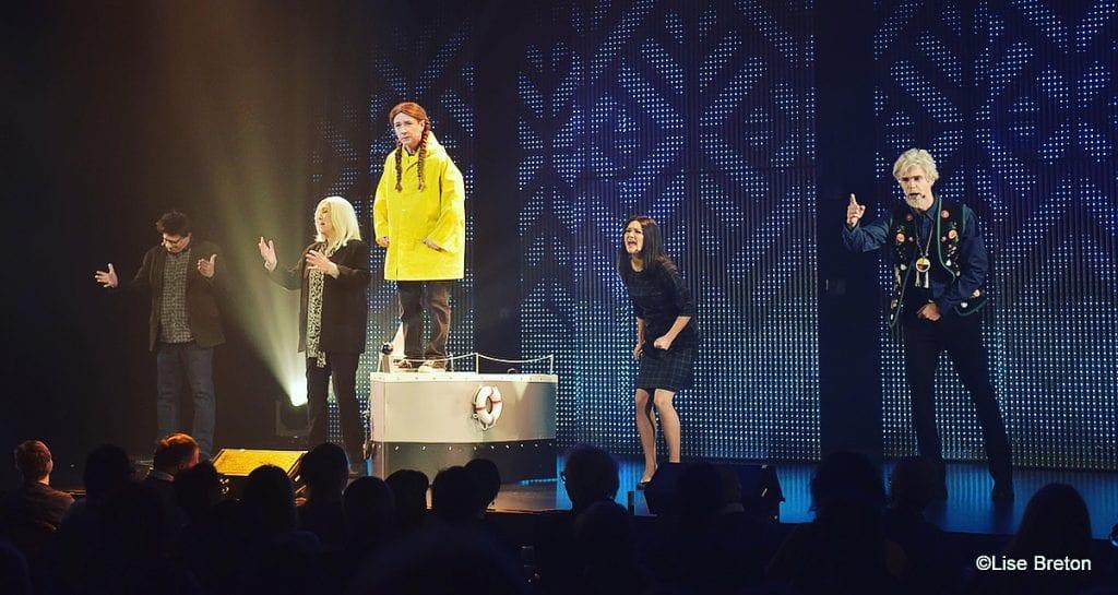 Les comédiens de 2019 Revue et Corrigée Photo @Lise Breton