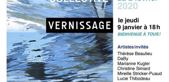 Du 6 Janvier au 2 Février 2020, l'artiste peintre Nantaise Mireille Stricker Puaud expose à Québec Chez Alfred-Pellan, Galerie d'art