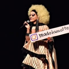 La flamboyante Mado Lamotte au Diamant avec Mado Follies