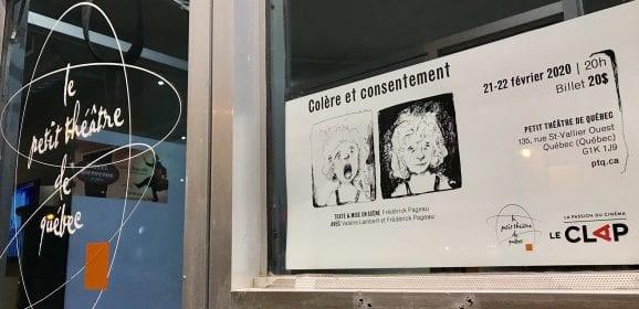 Colère et consentement au Petit théâtre de Québec