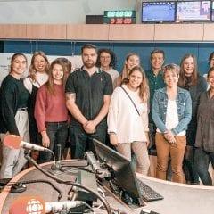 L'équipe du Gala de la relève en communication en visite chez Radio-Canada