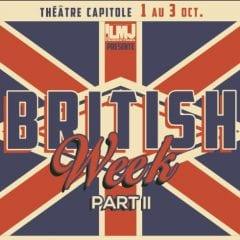 BRITISH WEEK de retour au Théâtre Capitole