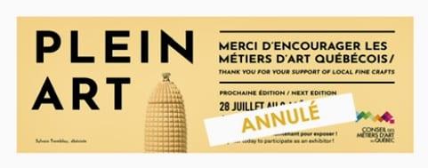 Annulation de Plein Art Québec 2020