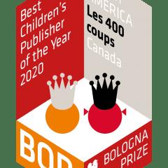 Les 400 coups remportent le prix BOP 2020 de la Foire du livre jeunesse de Bologne